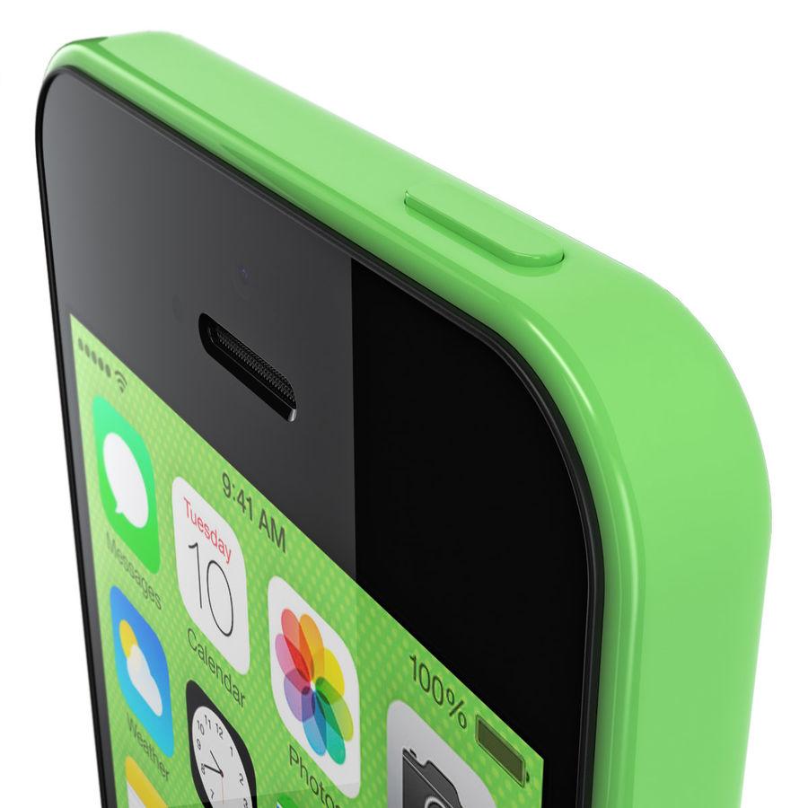 iPhone 5C cinco colores royalty-free modelo 3d - Preview no. 10