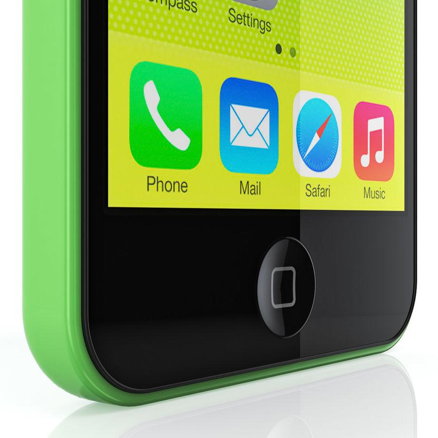 iPhone 5C cinco colores royalty-free modelo 3d - Preview no. 8