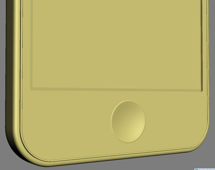 iPhone 5C cinco colores royalty-free modelo 3d - Preview no. 35