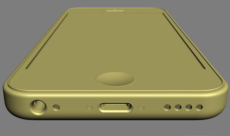 iPhone 5C cinco colores royalty-free modelo 3d - Preview no. 39