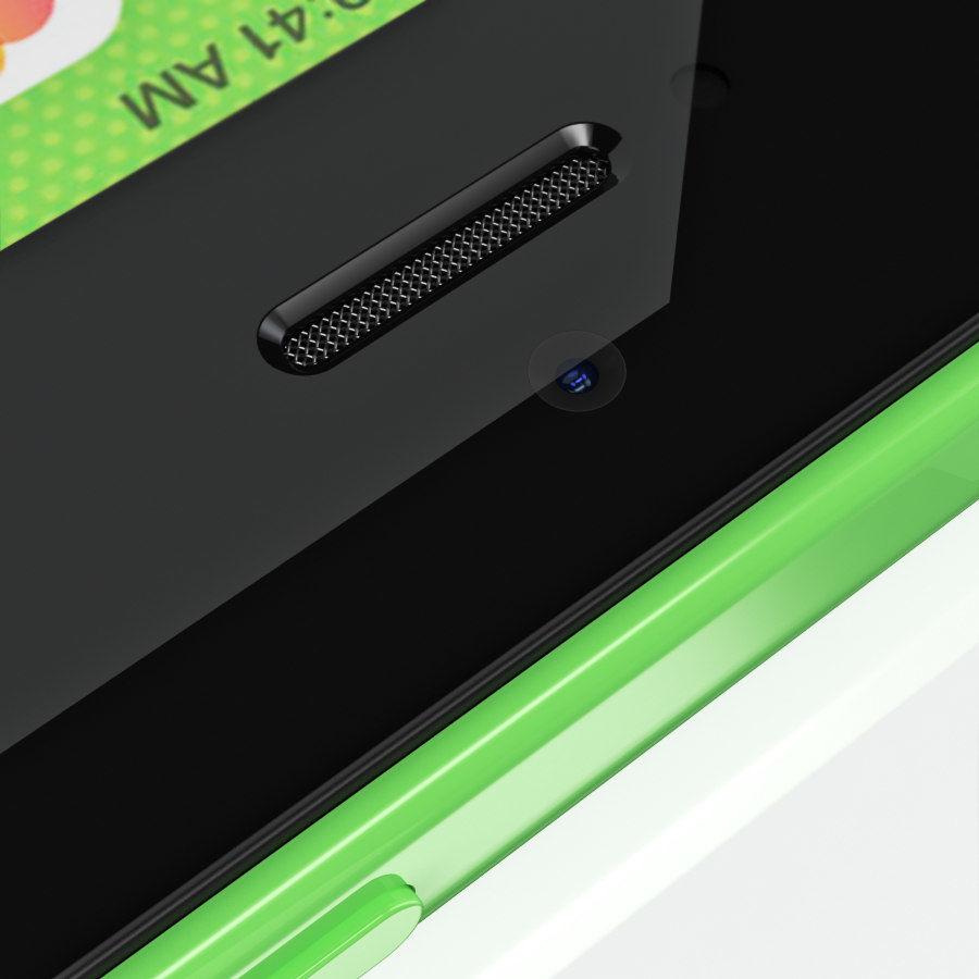 iPhone 5C cinco colores royalty-free modelo 3d - Preview no. 28