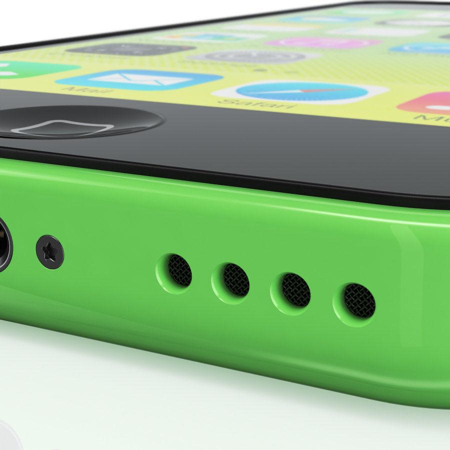 iPhone 5C cinco colores royalty-free modelo 3d - Preview no. 13