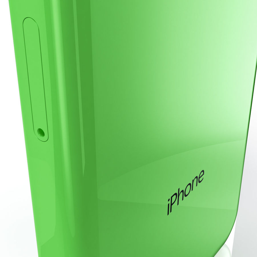 iPhone 5C cinco colores royalty-free modelo 3d - Preview no. 6