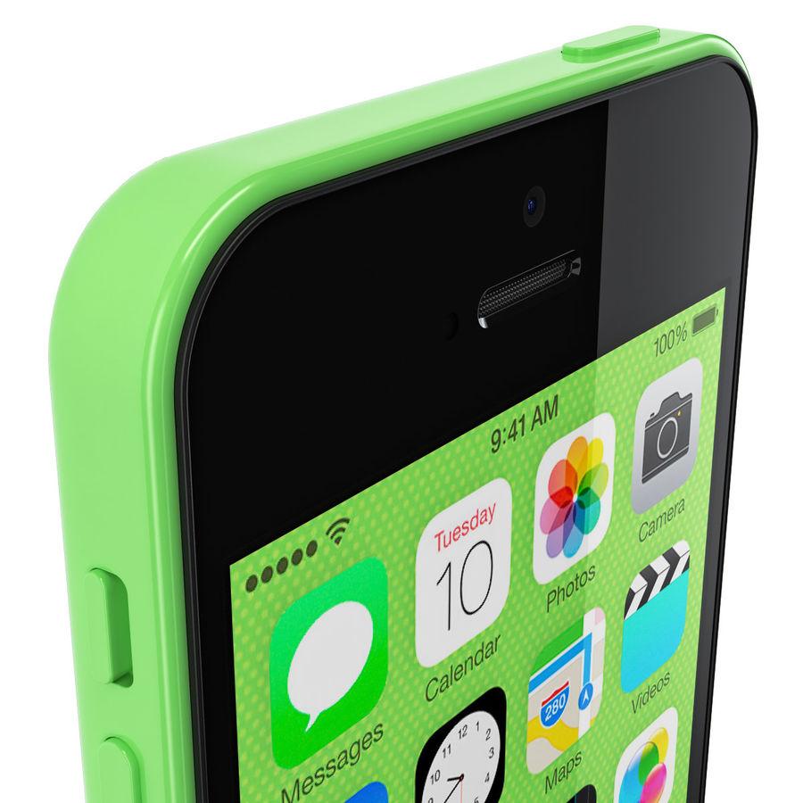 iPhone 5C cinco colores royalty-free modelo 3d - Preview no. 9