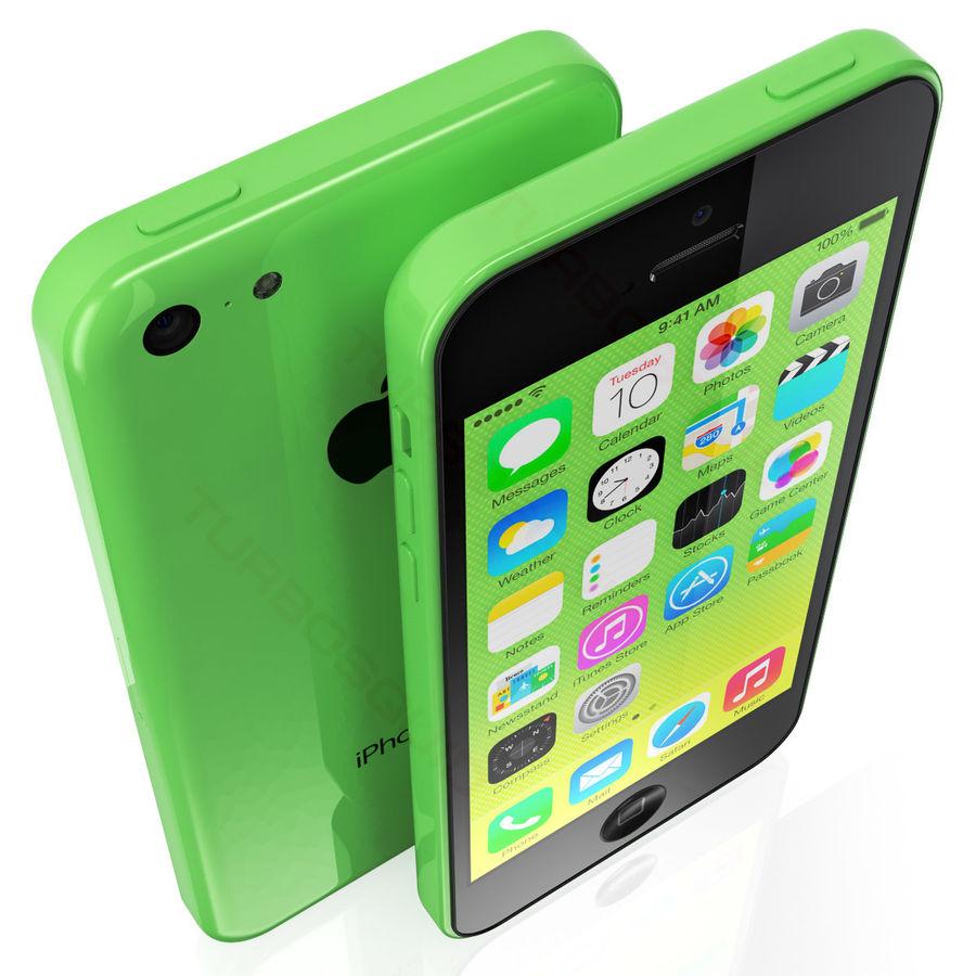 iPhone 5C cinco colores royalty-free modelo 3d - Preview no. 1