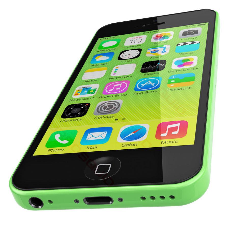 iPhone 5C cinco colores royalty-free modelo 3d - Preview no. 3