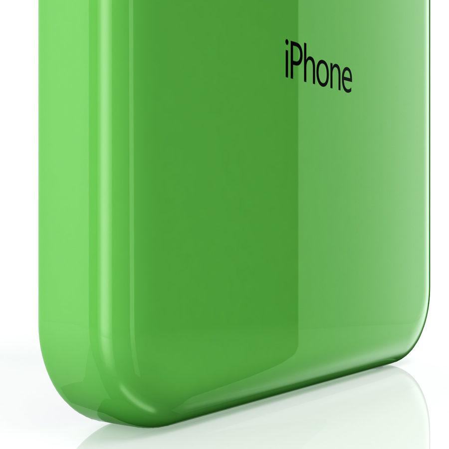 iPhone 5C cinco colores royalty-free modelo 3d - Preview no. 7
