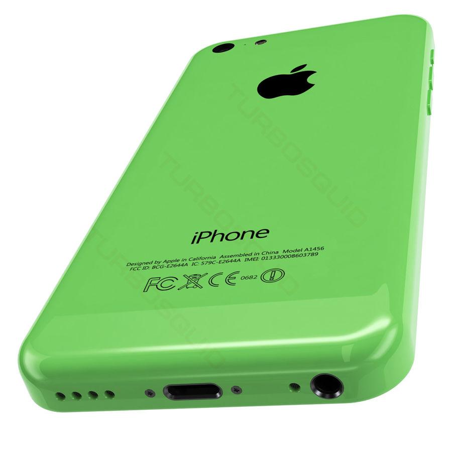 iPhone 5C cinco colores royalty-free modelo 3d - Preview no. 5