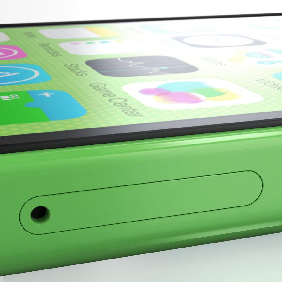 iPhone 5C cinco colores royalty-free modelo 3d - Preview no. 16
