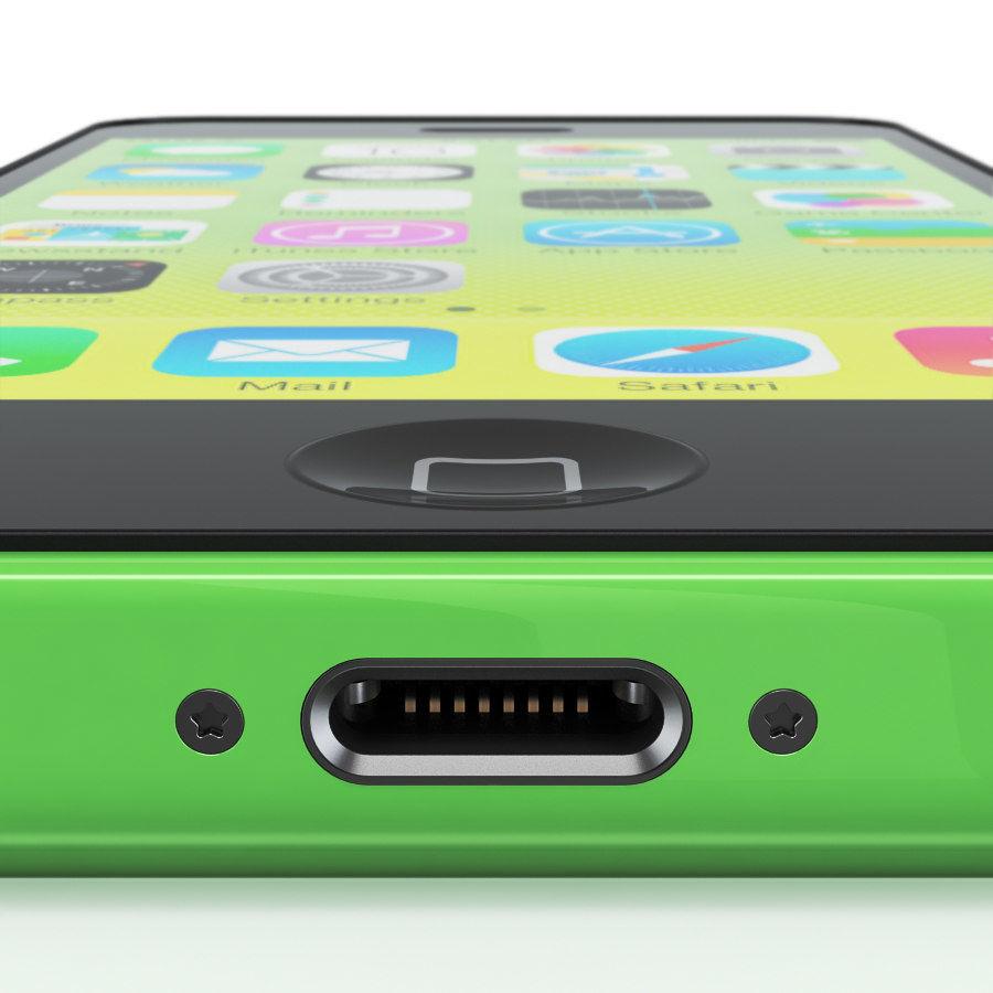 iPhone 5C cinco colores royalty-free modelo 3d - Preview no. 12