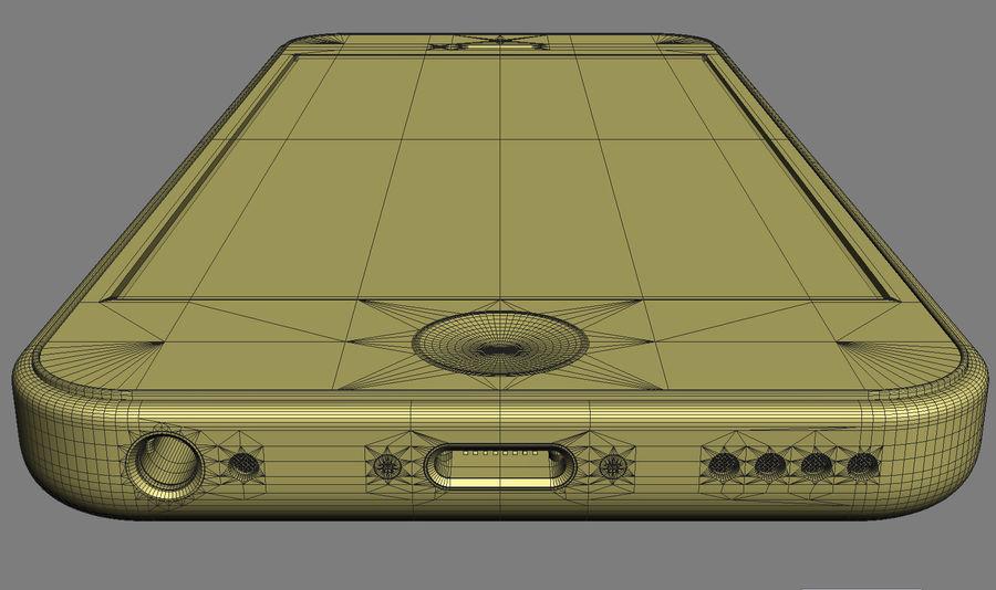 iPhone 5C cinco colores royalty-free modelo 3d - Preview no. 40
