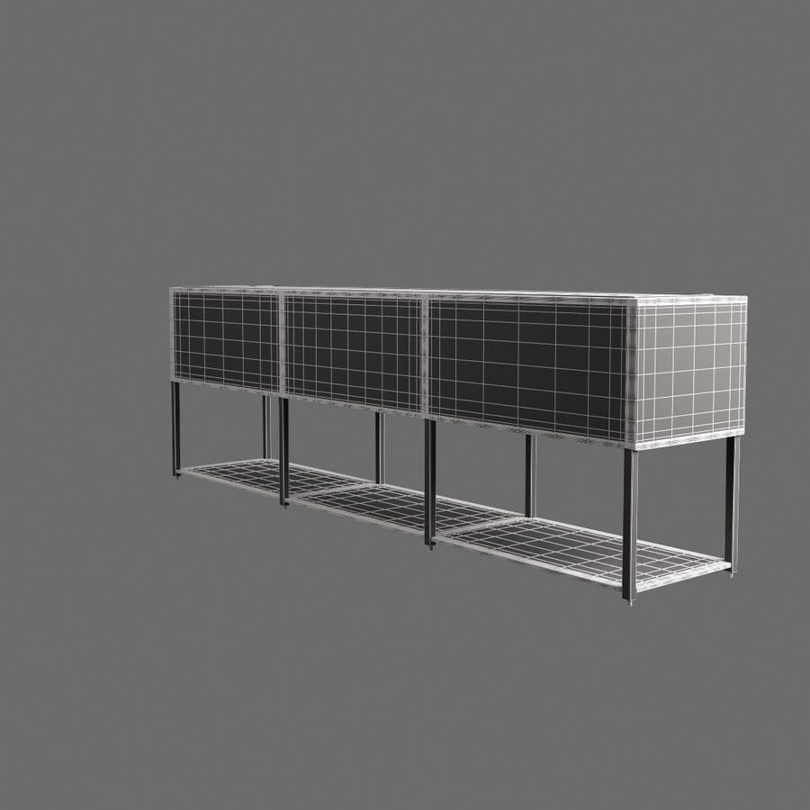 Dresser 001 royalty-free 3d model - Preview no. 7