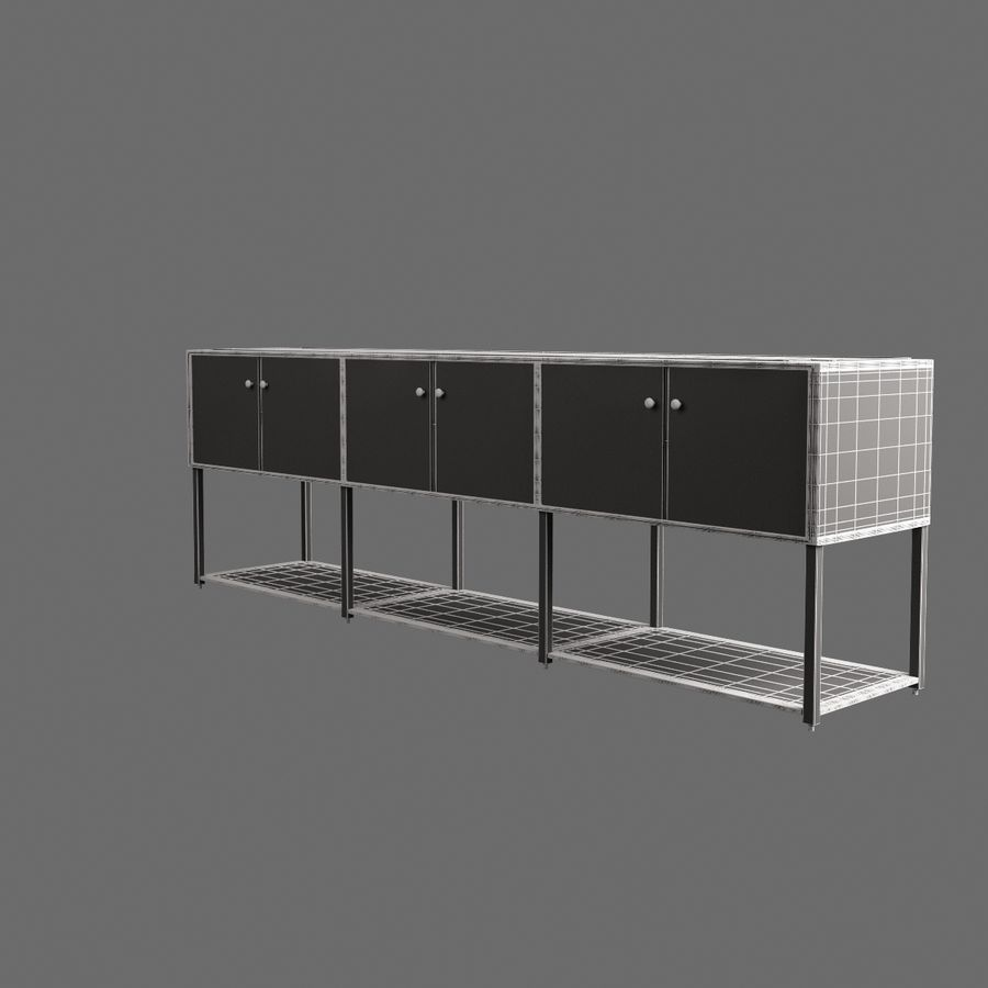 Dresser 001 royalty-free 3d model - Preview no. 6