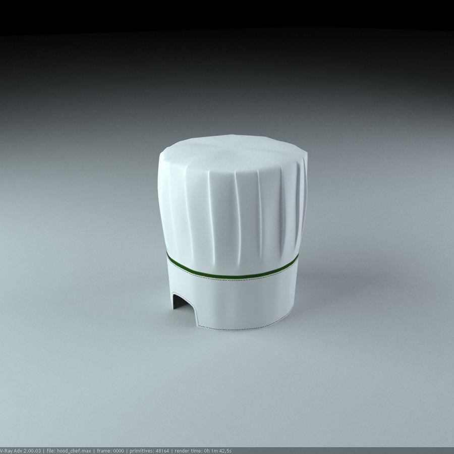 Kapelusz szefa kuchni royalty-free 3d model - Preview no. 3