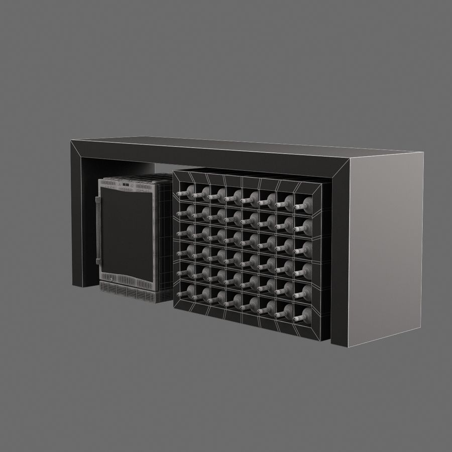 Vardagsrumsbord 006 royalty-free 3d model - Preview no. 7