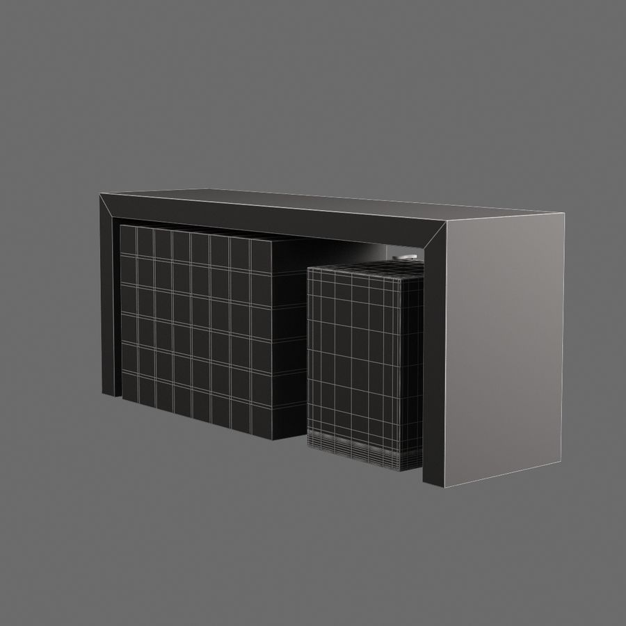Oturma odası masa 006 royalty-free 3d model - Preview no. 8