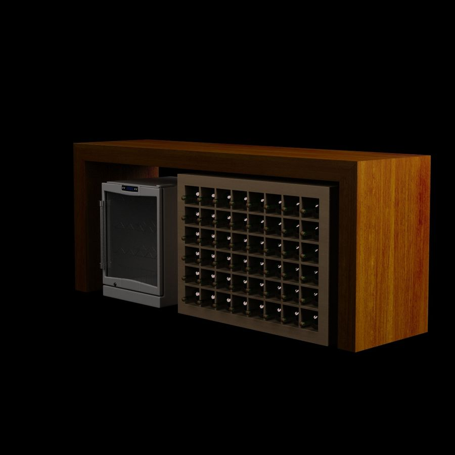 Vardagsrumsbord 006 royalty-free 3d model - Preview no. 2