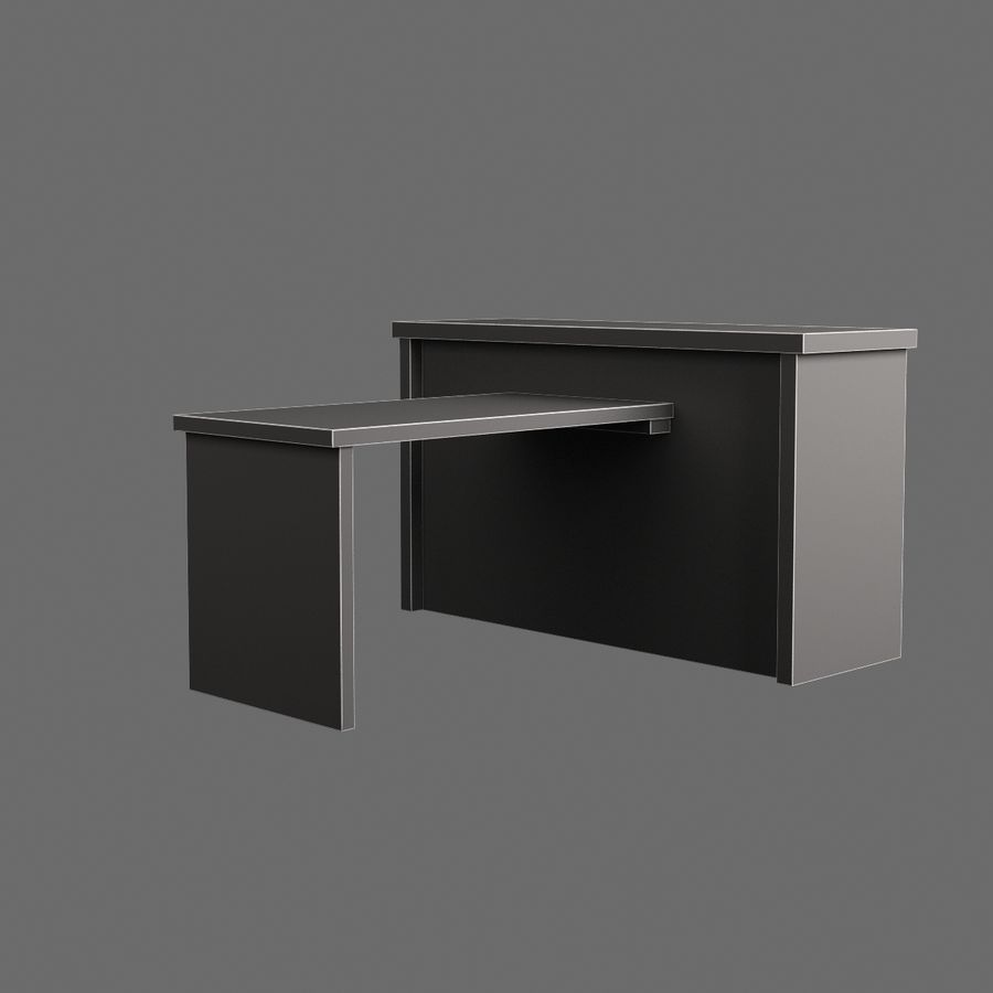 Vardagsrumsbord 007 royalty-free 3d model - Preview no. 7