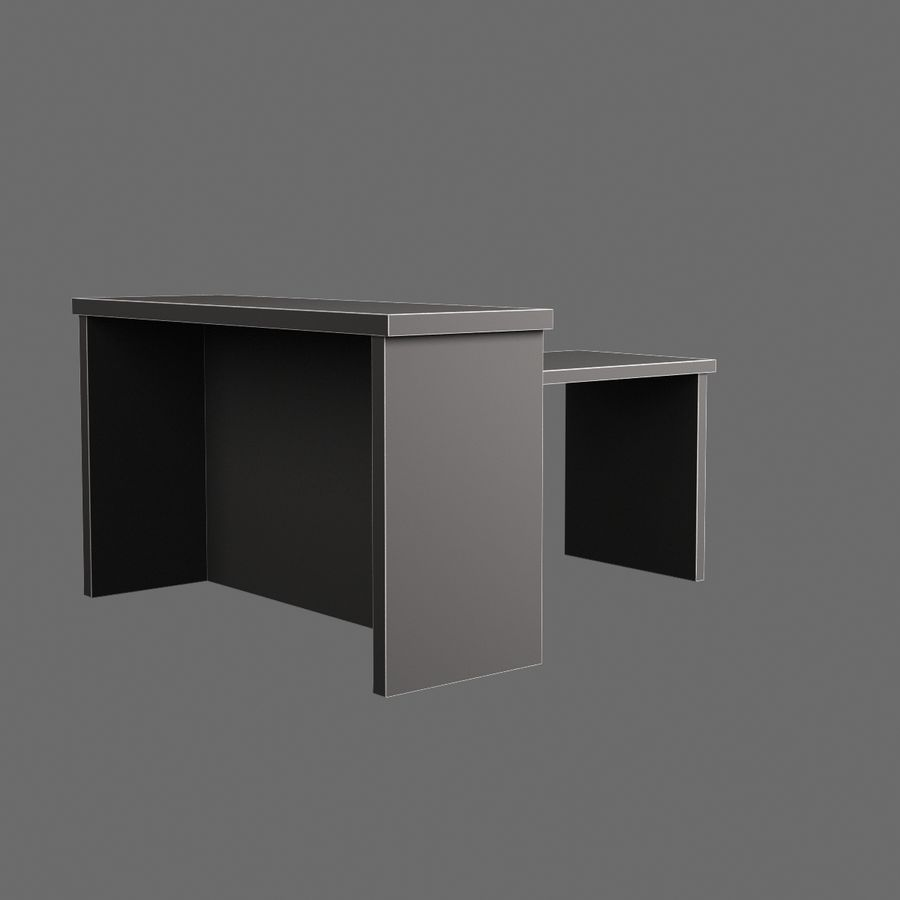 Vardagsrumsbord 007 royalty-free 3d model - Preview no. 8