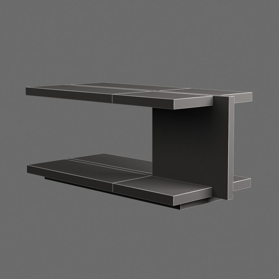 Vardagsrumsbord 008 royalty-free 3d model - Preview no. 6