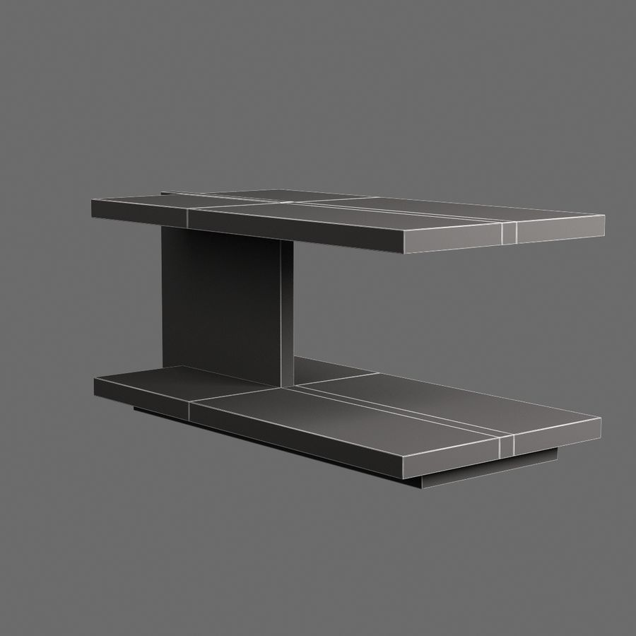 Vardagsrumsbord 008 royalty-free 3d model - Preview no. 7