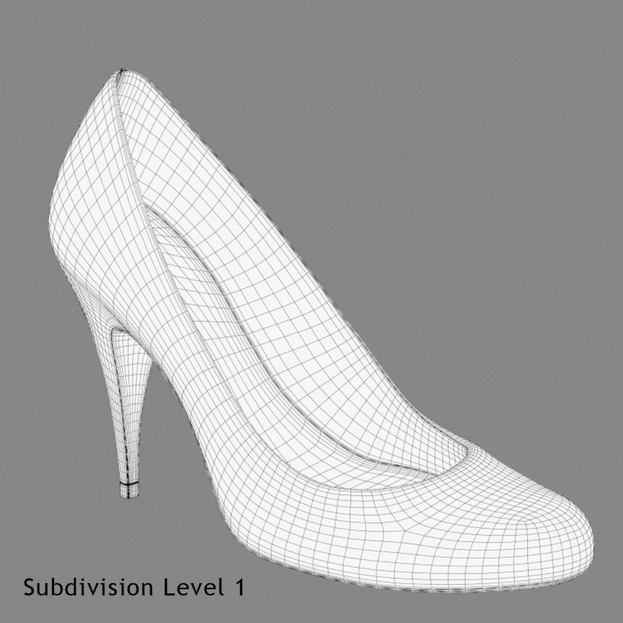 Tacones altos royalty-free modelo 3d - Preview no. 11