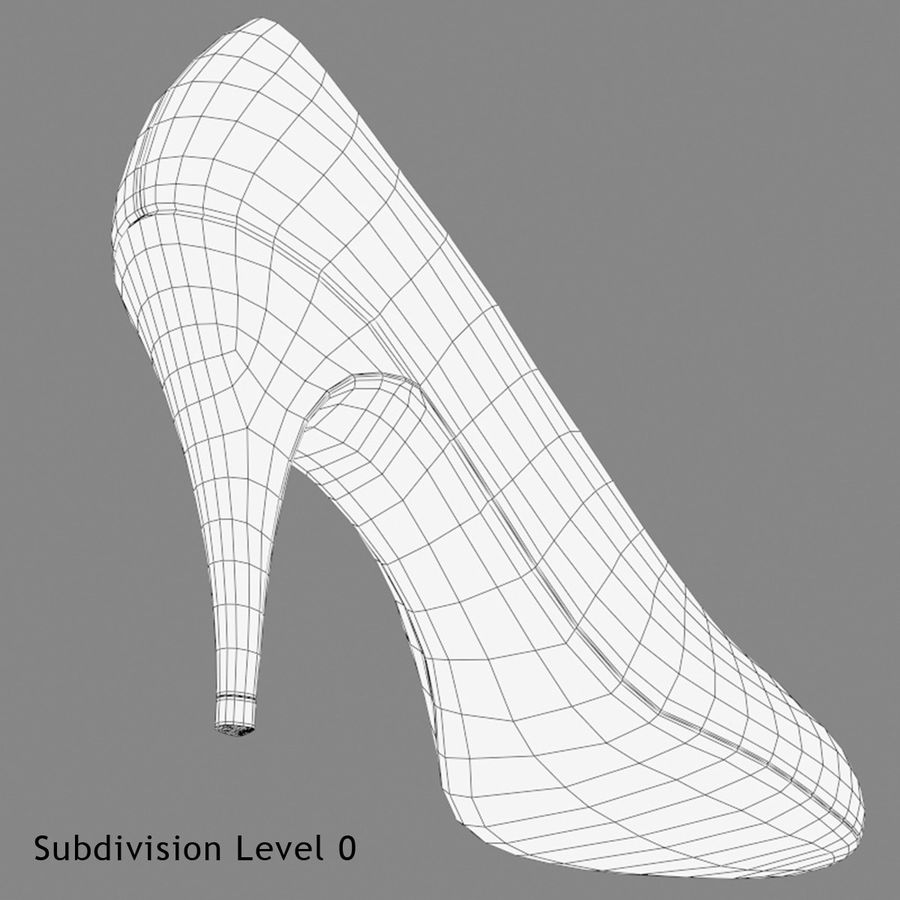 Tacones altos royalty-free modelo 3d - Preview no. 12