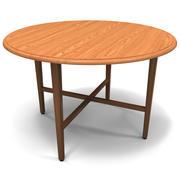 Table ronde à abattant 3d model