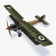 RAF RE8 Low Poly modelo 3d