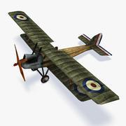 皇家空军RE8低聚 3d model
