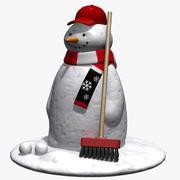 雪だるま 3d model
