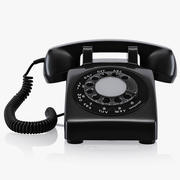 Old disc telephone 3d model