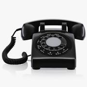 Vieux téléphone à disque 3d model