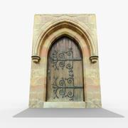Średniowieczne drzwi 3d model
