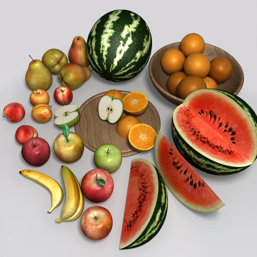 Обычные фрукты royalty-free 3d model - Preview no. 4