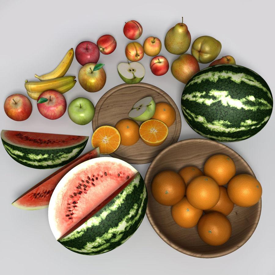 Обычные фрукты royalty-free 3d model - Preview no. 5