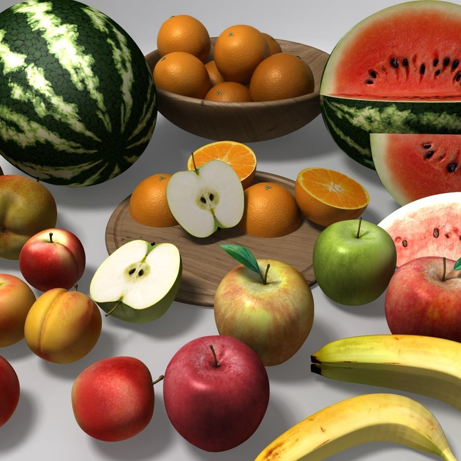 Обычные фрукты royalty-free 3d model - Preview no. 8
