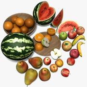 Обычные фрукты 3d model