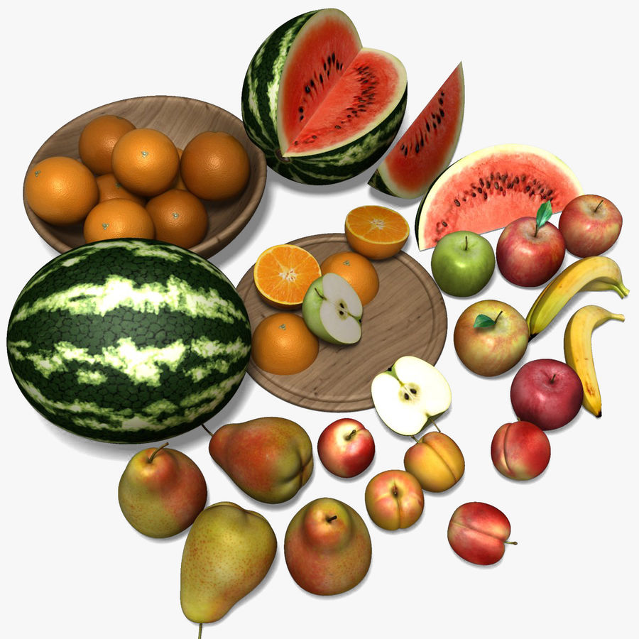 Обычные фрукты royalty-free 3d model - Preview no. 1