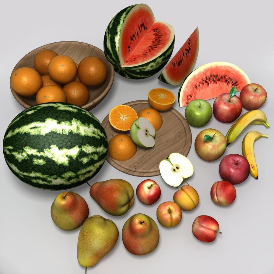 Обычные фрукты royalty-free 3d model - Preview no. 2