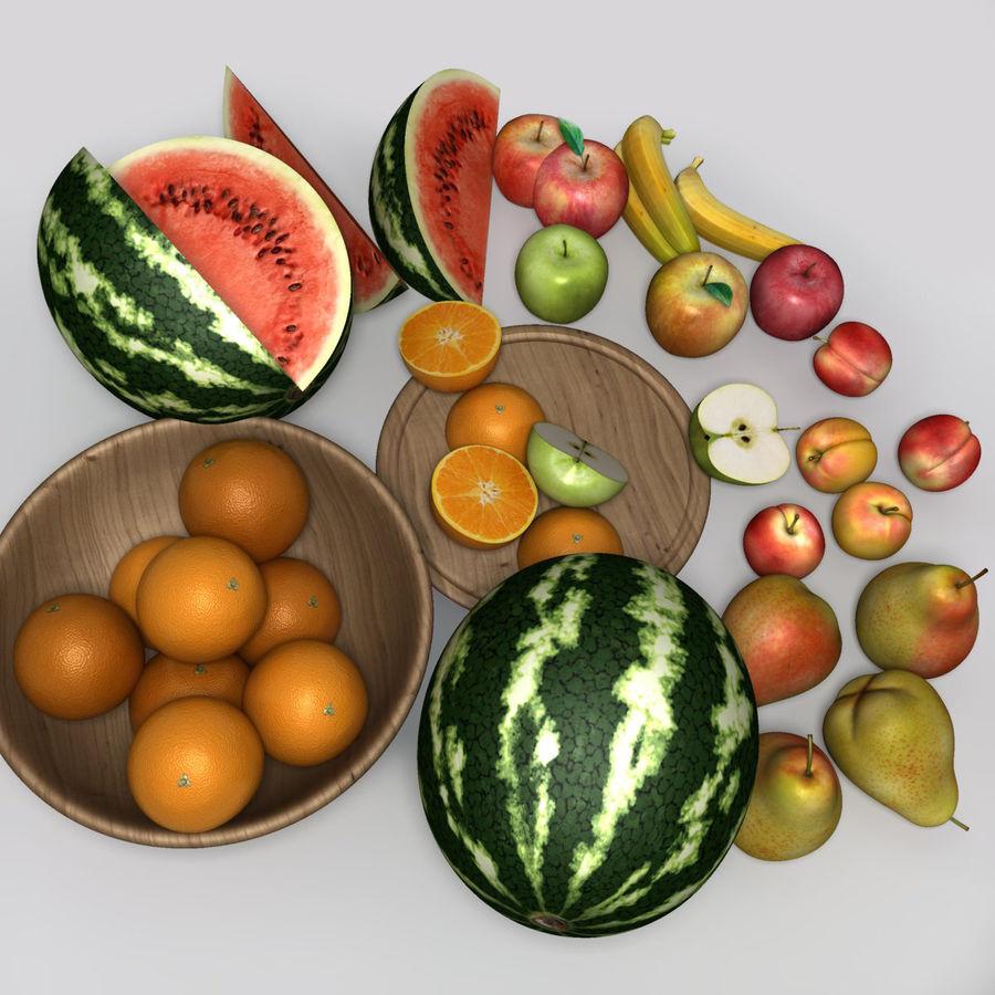 Обычные фрукты royalty-free 3d model - Preview no. 6