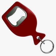 Bottle Opener Keychain 3d model