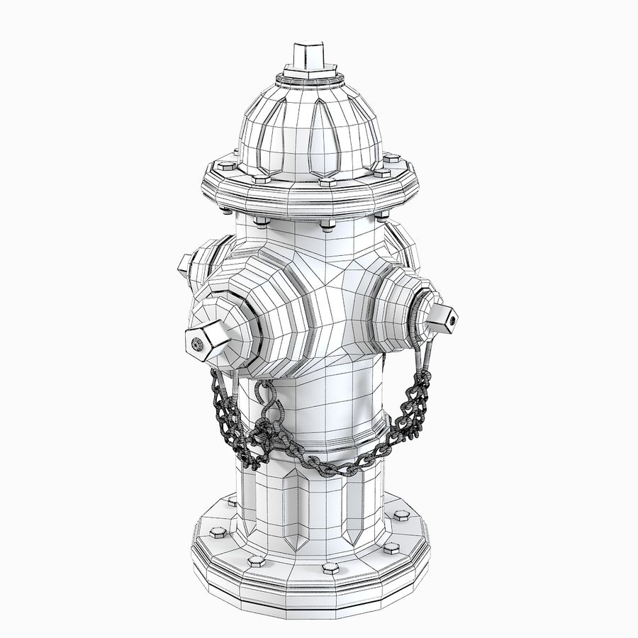 Feuerhydrant royalty-free 3d model - Preview no. 8