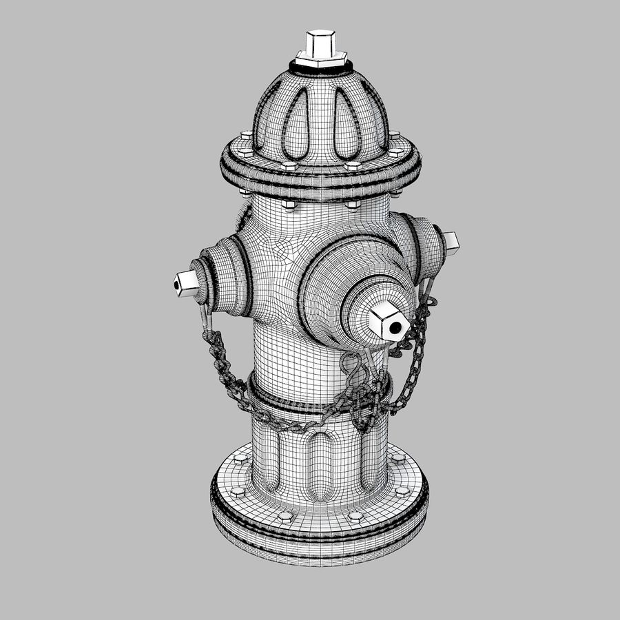 Feuerhydrant royalty-free 3d model - Preview no. 6