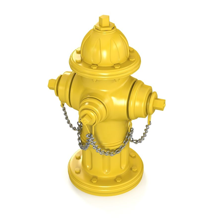 Feuerhydrant royalty-free 3d model - Preview no. 5