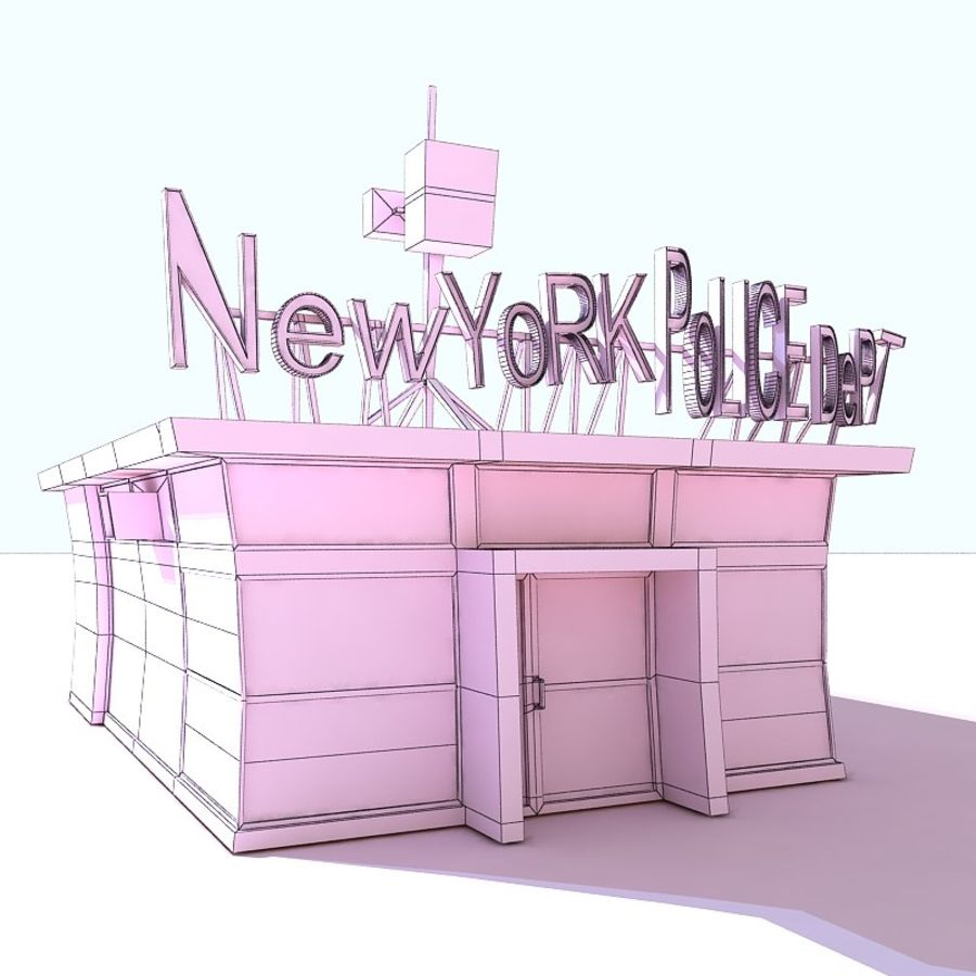 Cartoon Nypd royalty-free 3d model - Preview no. 8