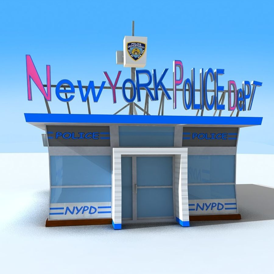 Cartoon Nypd royalty-free 3d model - Preview no. 3