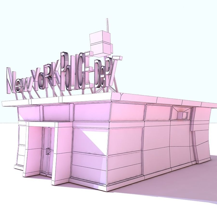 Cartoon Nypd royalty-free 3d model - Preview no. 7