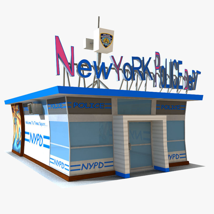Cartoon Nypd royalty-free 3d model - Preview no. 1