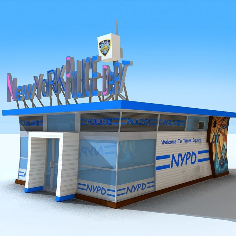 Cartoon Nypd royalty-free 3d model - Preview no. 6